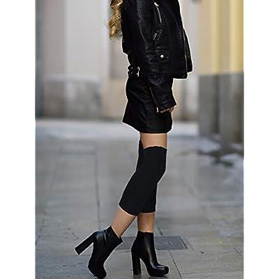 3 Pairs Leg Warmers Fabric Knee Brace Knee Pads Warm Thermal Knee Sleeves for Women: Clothing