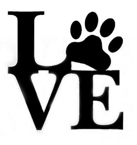 LOVE PAW Pet Car Vinyl Sticker Car Window Decal Shipped from USA from CarSticker
