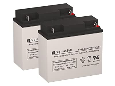 Solar Trunk Pac ES1224 Jump Starter Replacement Battery Set of 2-12 Volt 22AH NB Terminal by SigmasTek
