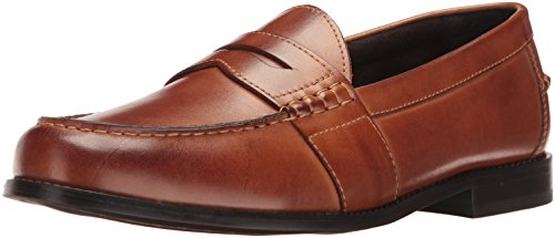 [Nunn Bush Men's Noah Penny Loafer, Cognac, 12 W US] (Dress Loafer Beef Roll)