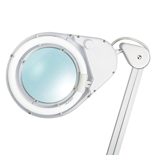 OttLite 22w Clamp Magnifier Lamp | Table Lamp, Task Lamp, Desk Lamp | Optical-Grade Magnifier, Versatile Clamp | Great for Home, Office, Workshop, Crafting by OttLite (Image #1)