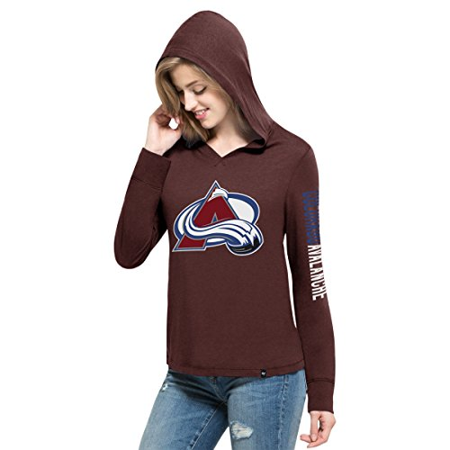Fleece Colorado Avalanche Pullover (NHL Colorado Avalanche Women's '47 First Team Pullover Hood, Maroon,)