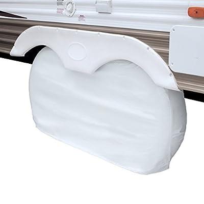 Classic Accessories OverDrive RV Dual Axle Wheel Cover, White, Small: Automotive
