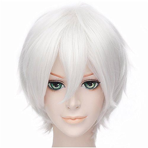 Sexy Care Bear (Flovex Short Straight Anime Cosplay Wigs Natural Sexy Costume Party Daily Hair (Silver White 3))