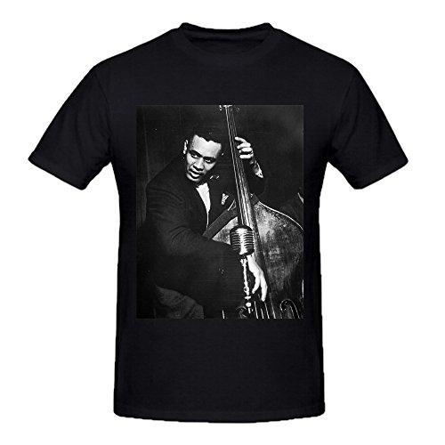 NIWAHO Design Charles Mingus photo T-shirt Cotton O neck Men Black (Charles Cotton T-shirt)