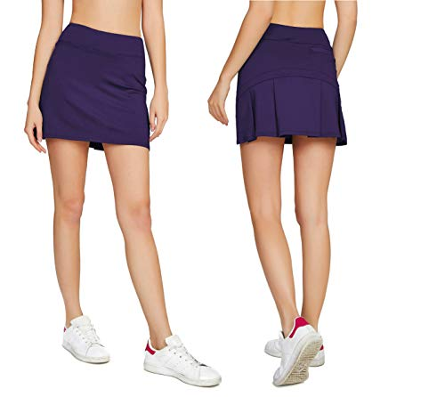 ual Pleated Golf Skirt with Underneath Shorts Running Skorts m deep Purple 2 ()