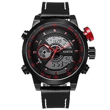 Relojes para hombres, Hombre Reloj digital Reloj creativo único Reloj de Pulsera Reloj Militar Reloj