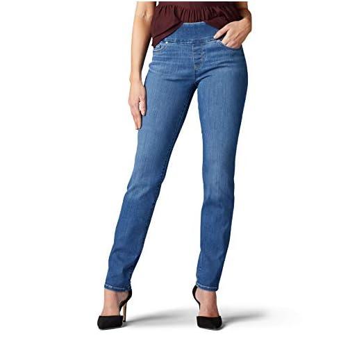 LEE Women's Sculpting Fit Slim Leg Pull on Jean 5