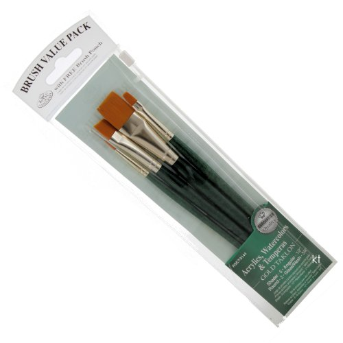 Glaze Estate (Brush Set Value Pack Gold Taklon 4/Pkg - Shd 6, Ang 1/2