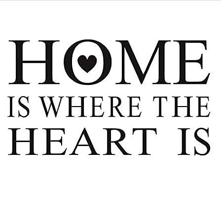 YANCONG vinilos Infantiles El hogar es Donde está el corazón Frase ...