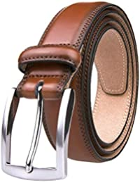 Men's Genuine Leather Dress Belts Made with Premium Quality - Classic and Fashion Design for Work Business and...