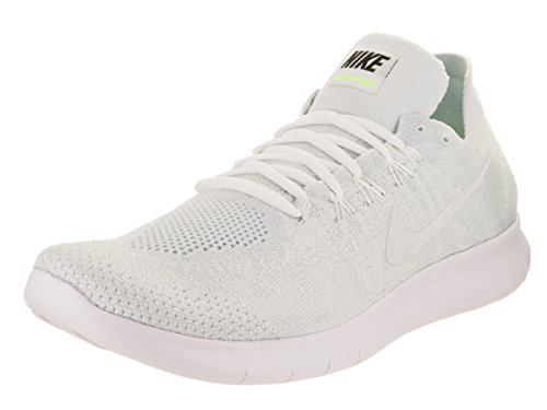 Nike Shoes For Less (Men's Nike Free RN Flyknit 2017 Running Shoe WHITE/WHITE-PURE PLATINUM-BLACK 10.5)