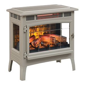 Duraflame 3D Infrared Electric Fireplace Stove with Remote Control - DFI-5010 (French Grey)