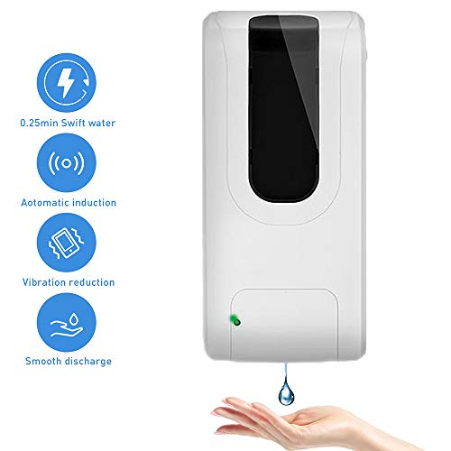Lovebay 1000ml Soap Dispenser Wall-mounted,Fully Automatic and Contactless Operation,Gel Dispenser Shampoo Sanitizer…