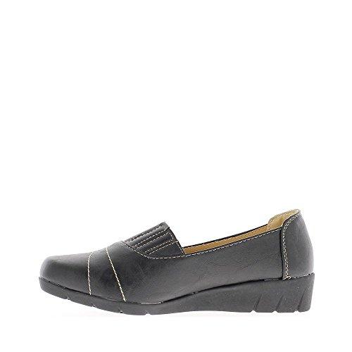 Chaussures Noires Avec Élastiqué Confort Femme Dessus AWaAHrwOqT