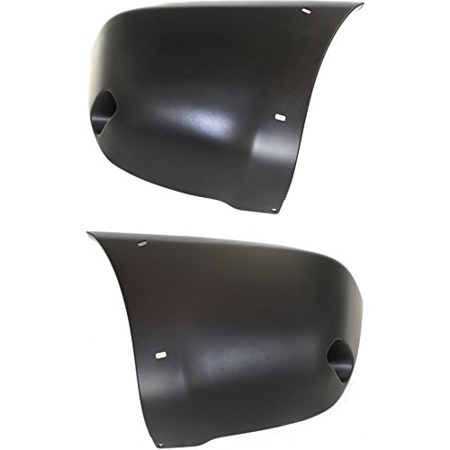 Bumper End Compatible with Toyota RAV-4 2001-2003 Rear Left and Right Side Primed w/Holes Compatible with Fender Flare and Reflector