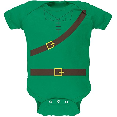 Robin Costume Design (Halloween Robin Hood Costume Kelly Green Soft Baby One Piece - 12-18 months)
