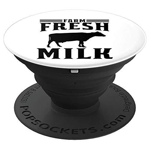Farm Fresh Milk with Dairy Cow - PopSockets Grip and Stand for Phones and Tablets