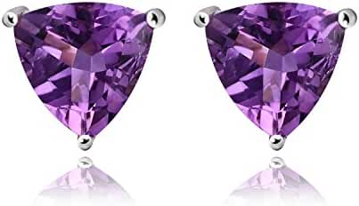 JewelryPalace 1.9ct Natural Purple Amethyst Stud Earrings 925 Sterling Silver