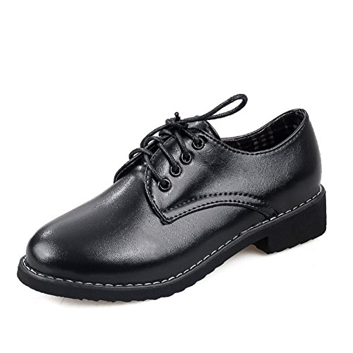 Pequeños zapatos de las señoras/Cabeza redonda con zapatos oscuros de Joker/ zapatos de tacón plano antideslizante A