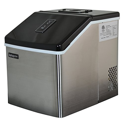 Luma Comfort IM200SS Portable Clear Ice Maker, 28-Pound