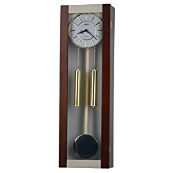 35-inch Solid Wood Walnut Pendulum Wall Clock with hourly Westminster Chime and Strike, Night off - P00056