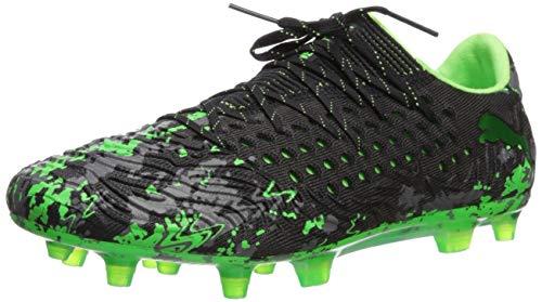2b9c892f3 PUMA Men's Future 19.1 Netfit Low FG/AG Sneaker, Black-Charcoal Gray-Green  Gecko, 10 M US