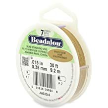 Beadalon Stringing Wire 7-Strand 0.015-Inch, 0.38-Millimeter Diameter, 30-Feet-Pack, Gold