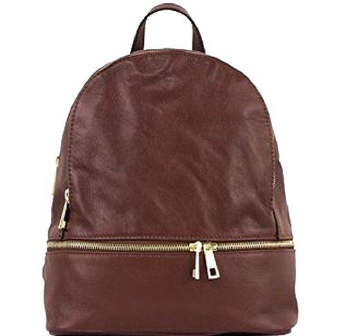 Bottega Carele - Bolso mochila de Piel para mujer marrón marrón