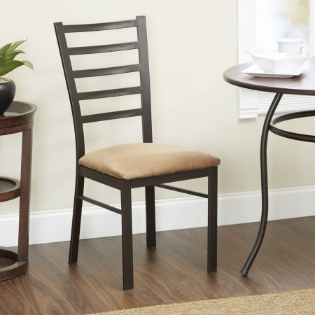 Accent Chair, Oil-Rubbed Bronze Finish,Tan