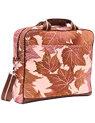 Mellow World Vintage Tapestry Maple Laptop Tote, Magenta, One Size