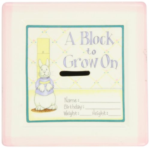 Baby Shower Porcelain - A Block to Grow On''Pink