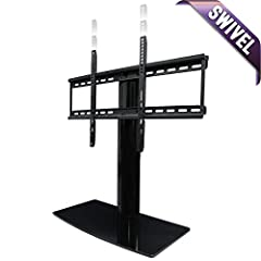 SLEEK, MODERN DESIGN  This swiveling Universal TV stand creates a modern look for your audio video equipment. Works great as a replacement TV stand, Samsung TV stand, Vizio TV stand, Sony TV stand and many others. The black piano finish adds ...