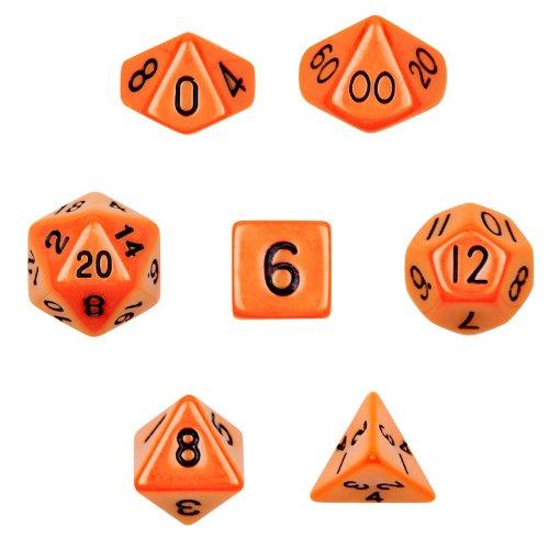 人気No.1 シリーズI 7 Wiz Dice Set Of 7 シリーズI Opaque Polyhedral Dice Opaque inベルベットポーチ B01L9TOSTY オレンジ オレンジ, VC工業株式会社:35a9c906 --- martinemoeykens.com