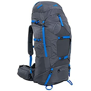 Image of ALPS Mountaineering Caldera Internal Frame Backpack 75L, Gray/Blue Internal Frame Backpacks
