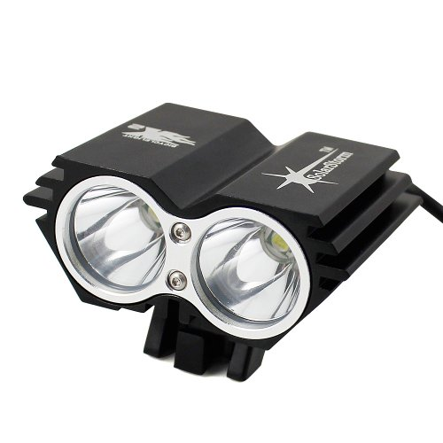 Siga  5000Lm 2X Cree Xml U2 Led Cycling Front Bicycle Bike Light Headlight Headlamp X2