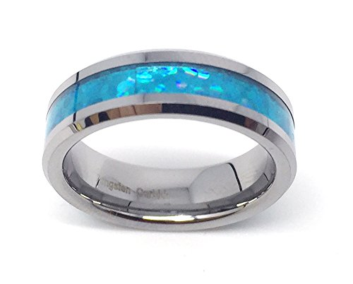 GiftsWithThought 6mm Tungsten Carbide Hawaiian