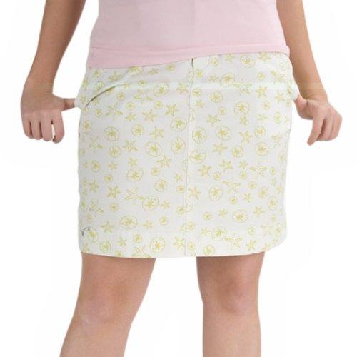 Green Monomoy Beach Print Cotton Skirt - 15 Inches - (16, Green)