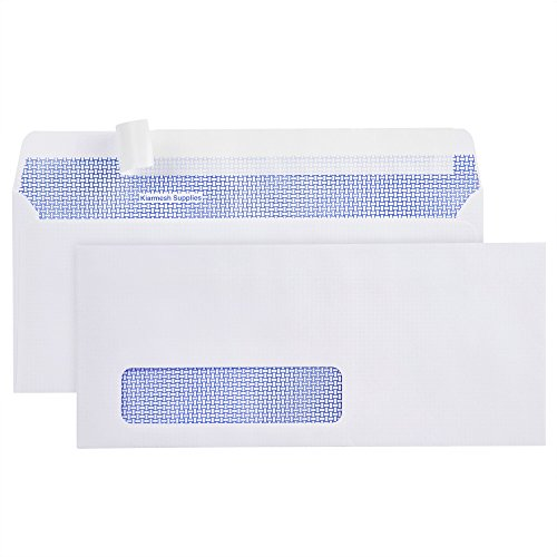 500 #10 Peel & Seal SINGLE Window Security Envelopes-Designed for Business Statements, Computer printed Checks, QuickBooks Invoices - 4 1/8 X 9 1/2 - Made in the (Poly Security Envelope)