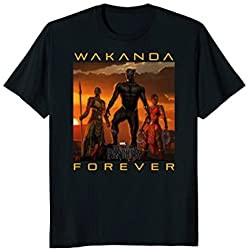 Marvel Black Panther Movie Wakanda Forever Graphic T-Shirt