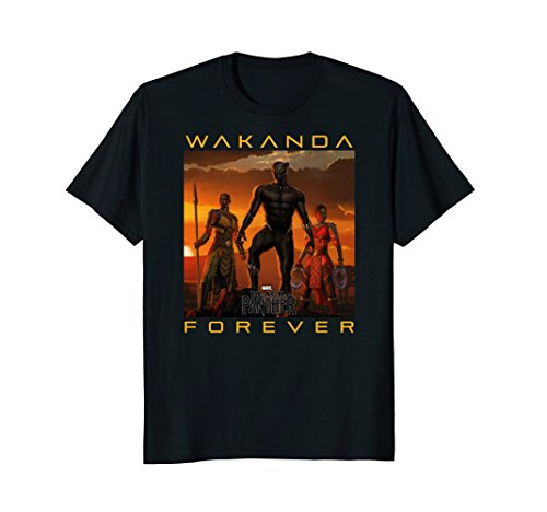 Marvel Black Panther Movie Wakanda Forever Graphic - Green T-shirt Forever