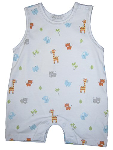 Kissy Kissy Baby-Boys Infant Safari Stroll Print Sleeveless Short Playsuit