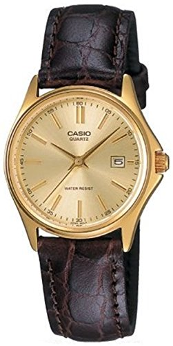 LTP1183Q 3-Hand Analog Ladie s Water Resistant Genuine Leather Band with Date