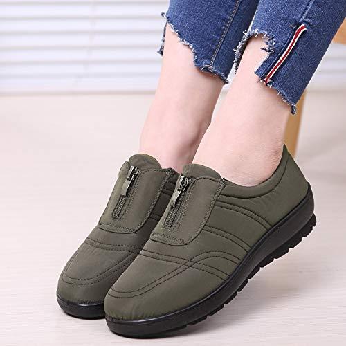 ZHRUI coloré Vert Chaussures 39 Vert Taille EU q6qgwUr