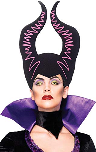 Ladies Demonic Godmother Foam Horns TV Book Film Movie Villain Halloween Fancy Dress Costume Hat
