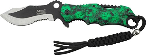 MTECH USA Mt-A808GN Assisted Opening Knife, 4.75-Inch Closed (Green)