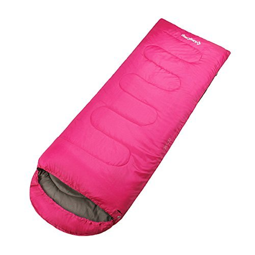KingCamp Envelope Sleeping Bag 4 Season Lightweight Comfort with Compression Sack Camping Backpack