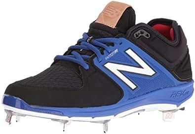 New Balance Men's L3000v3 Metal Baseball Shoe, Black/Blue, 7 D US