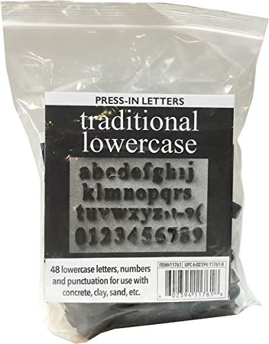 Magnetic Poetry Press in Letters and Numbers Stone Concrete Stamps - Lowercase Traditional Typeface