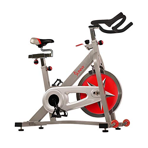 Sunny Health & Fitness Indoor Cycling Bike with 40 LB Flywheel and Dual Felt Resistance – Pro / Pro II